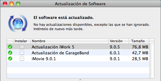 Actualizaciones antes de la Mac App Store