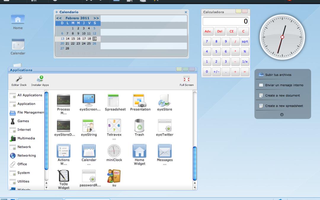 EyeOs, el Sistema Operativo en la nube