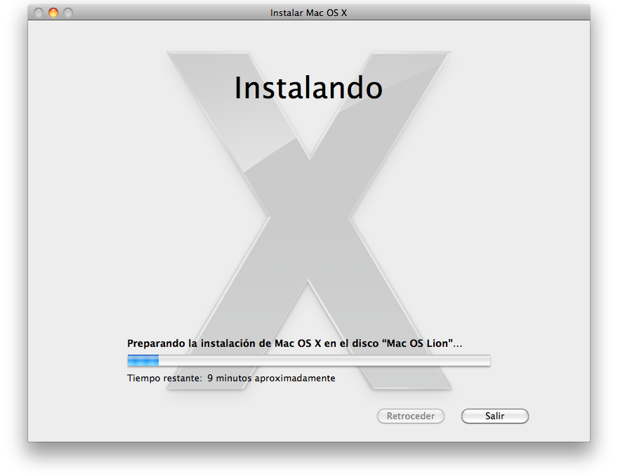 Instalar MacOS X Lion