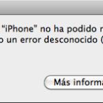 Solución error iTunes 1013