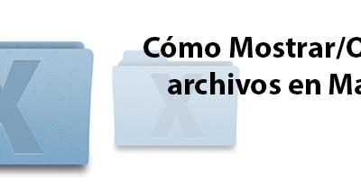 Cómo Mostrar/Ocultar archivos en MacOS